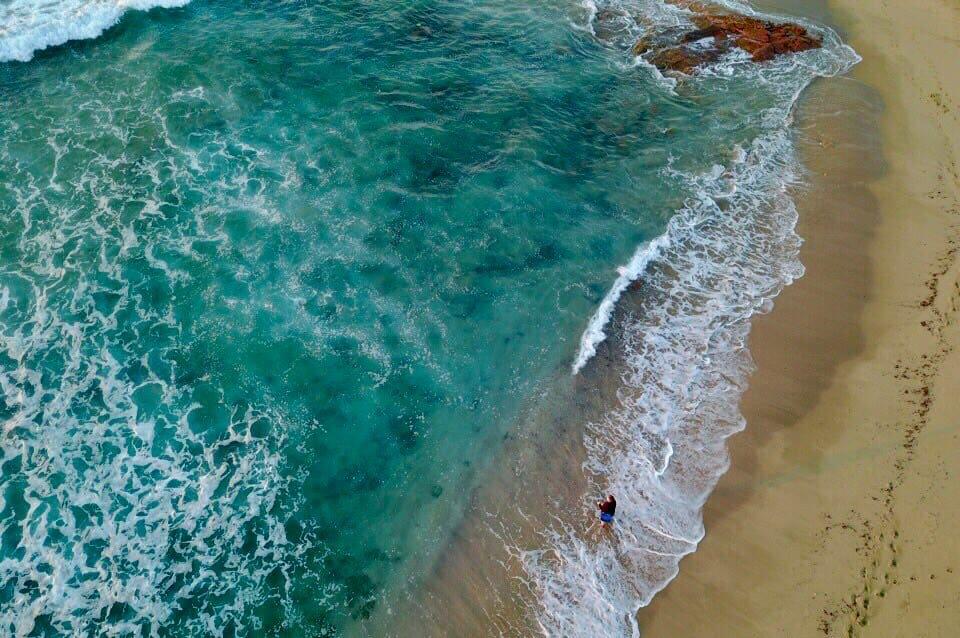 Arial ocean view of Palm Beach