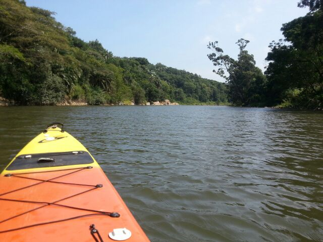 Rowing down the Mpenjati River - Palm Beach Chalets