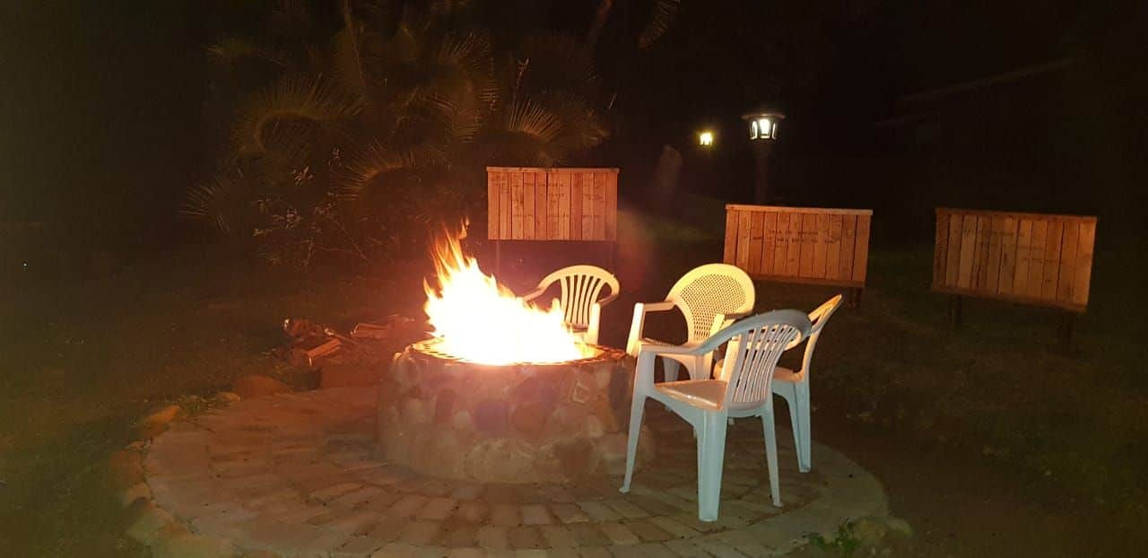 Chill time at our fire pit - Palm Beach Chalets